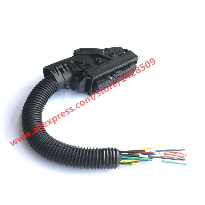 EDC7 Common Rail 89 Pins ECU Connector Auto PC Board Socket With Wiring Harness For Bosch edc7 common rail 89 pins ecu connector auto pc board socket with pac wire harness at mifinder.co