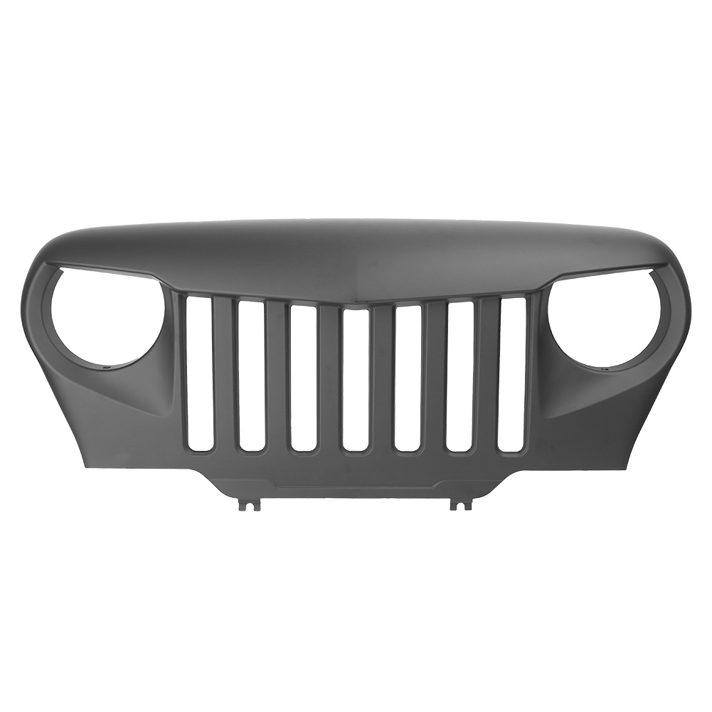 For Jeep Wrangler TJ Front Bumper Grille Grill 1997 1998 1999 2000 2001 2002 2003 2004 2005 2006 Automobile Part Matte Black ABS коммутатор no brand after market 84820 08010 901 712 toyota solara 1998 1999 2000 2001 2002 2003 2004 2005 2006