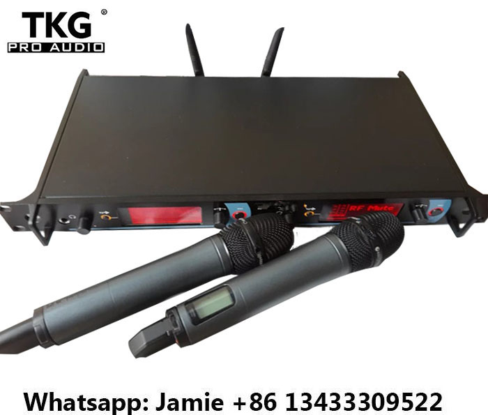 780 822MHZ dual double two uhf professional wireless microphone system karaoke KTV microphone audio system equipment