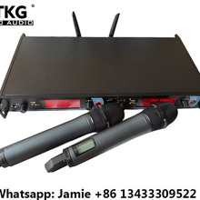 780-822 МГц двойной два УВЧ профессиональный беспроводной микрофон система караоке KTV микрофон аудио система оборудование