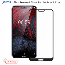 2Pcs/lot Tempered Glass For Nokia 6.1 Plus Global Full Screen cover Protector also on smartphone nokia X6 Protective Film
