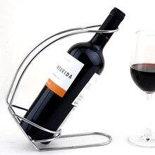 1PC 2016 Fashion Stainless steel wire wine rack High grade creative wine holder simple wine holder J3008
