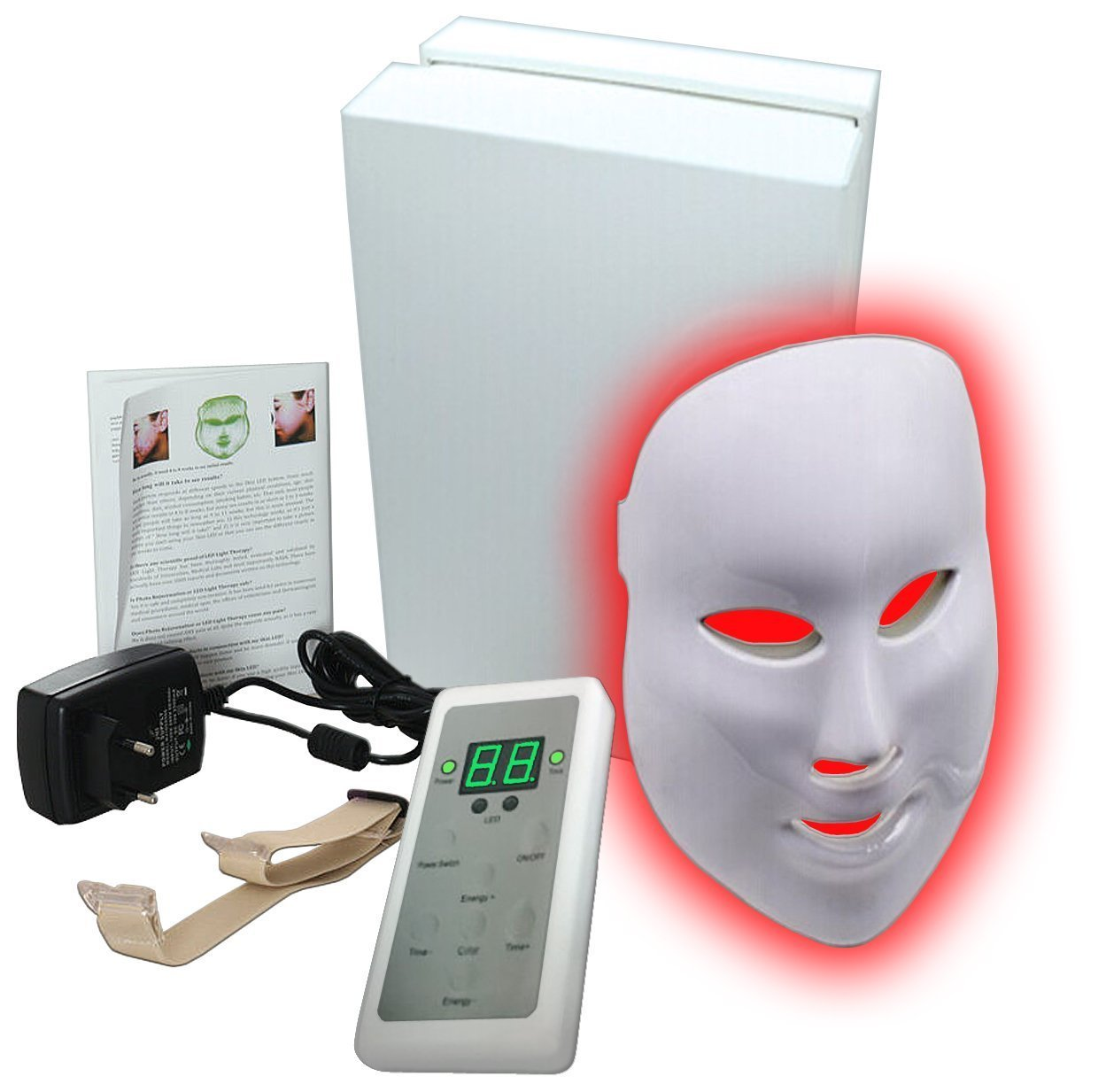 7 Color LED Mask Photon Light Skin Rejuvenation Therapy Facial Mask Photon Photodynamics Beauty Facial Peels Machine Skin Care 7color led mask photon light skin rejuvenation therapy facial mask ice roller stainless steel blackhead needle bend curved