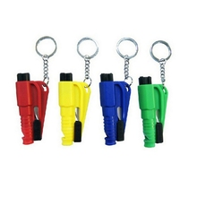 Mini Safety Hammer Auto Car Window Glass Breaker Seat Belt Cutter Rescue Hammer Car Life-saving Escape Key Rings(China)