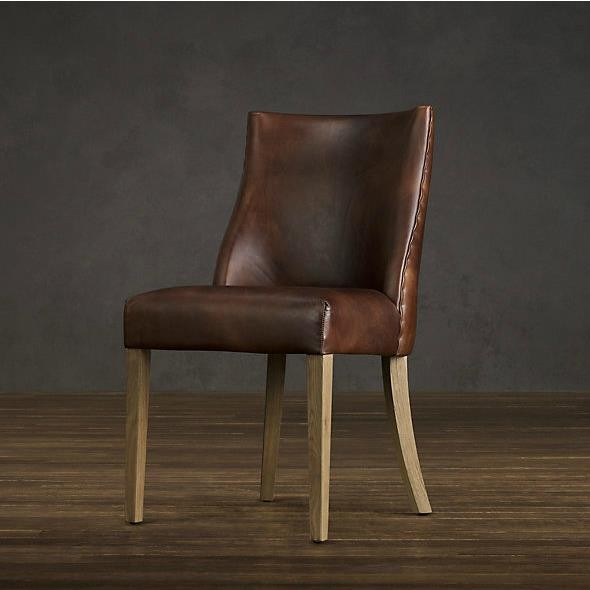 Rústico francés muebles / de lujo del cuero genuino silla de comedor ...