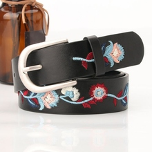 2019 Women Fahion Embroidery Belts Elegant Flower Waistband for Jeans Corset Womens Dress Accessories Punch Belt