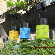 Blue Green Yellow Dragonfly Lantern Solar Lights LED Solar Lamp Outdoor  Lighting Fairy XMAS Decorative Light For Party Holiday