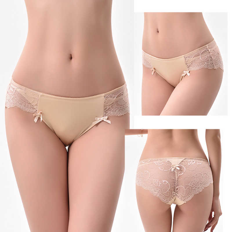 ... Sexy Lace Panties Women Briefs Seamless Underwear Silk Ladies  Transparent Bikini Cotton for Girls Erotic Panty ... 9593006d3