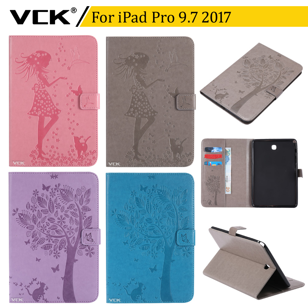 VCK Pattern TPU Flip leather For Apple iPad Pro 9.7 2017 Case Stand Ultra-Thin Slim Cover Colorful Cartoon Smart gorenje vck 2323 ap dy в украине