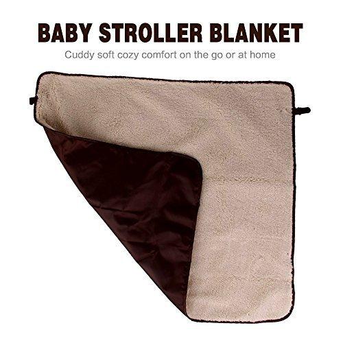 Размер 72x72 см кофе детская Удобная коляска дефлекторы окон/коляска с водоотталкивающим покрытием теплое одеяло крышка подходит для зимы
