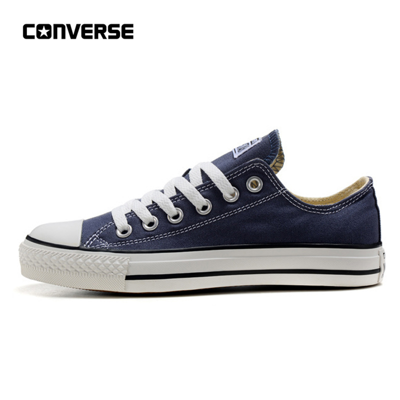 Converse All Star classique toile bas haut skateboard chaussures unisexe bleu Anti-glissant Sneakser 35-44Converse All Star classique toile bas haut skateboard chaussures unisexe bleu Anti-glissant Sneakser 35-44