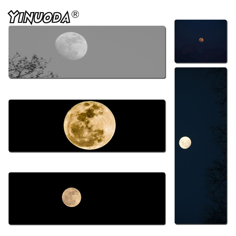 Yinuoda Hot Sales A Bright Moon High Speed New Mousepad Size 300x600mm And 400x900mm