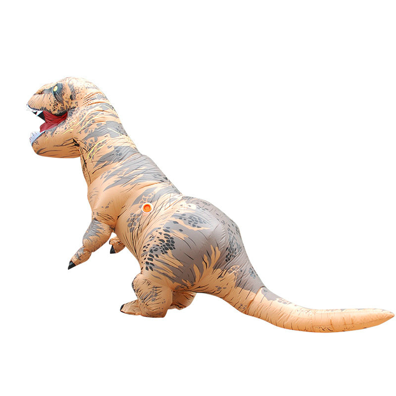 Adult T-REX INFLATABLE Dinosaur Costume Fancy Dress Cosplay Animal Jumpsuit Halloween Costumes Carnival White Brown Red 5 colour