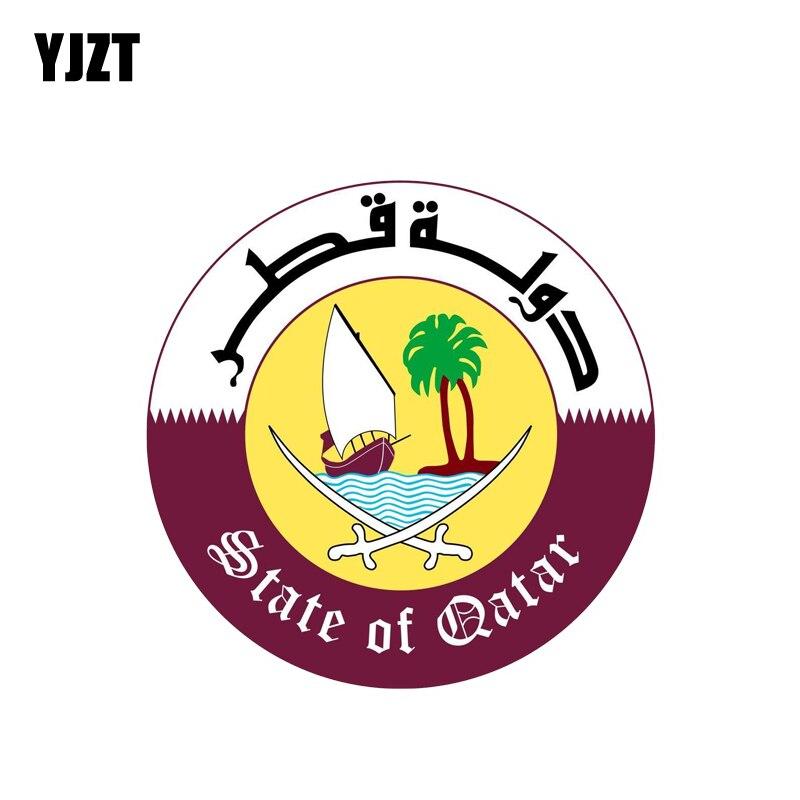 YJZT 12CM*12CM Car Styling Qatar Shield Coat Of Arms Motorcycle HelmetCar Sticker 6-2132