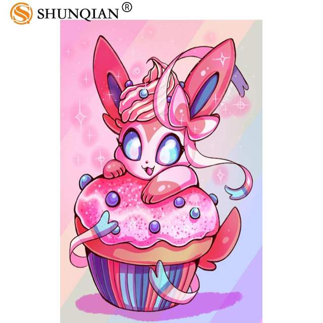 Placeholder Custom Posters Pokemon Sylveon Art Home Room Interior Silk Poster Mural Decoration More Size