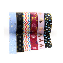 ФОТО new 6x cute tape silver color gold foil washi tape set for adhesive scrapbooking tools party kawaii cute deco paper crafts 10m