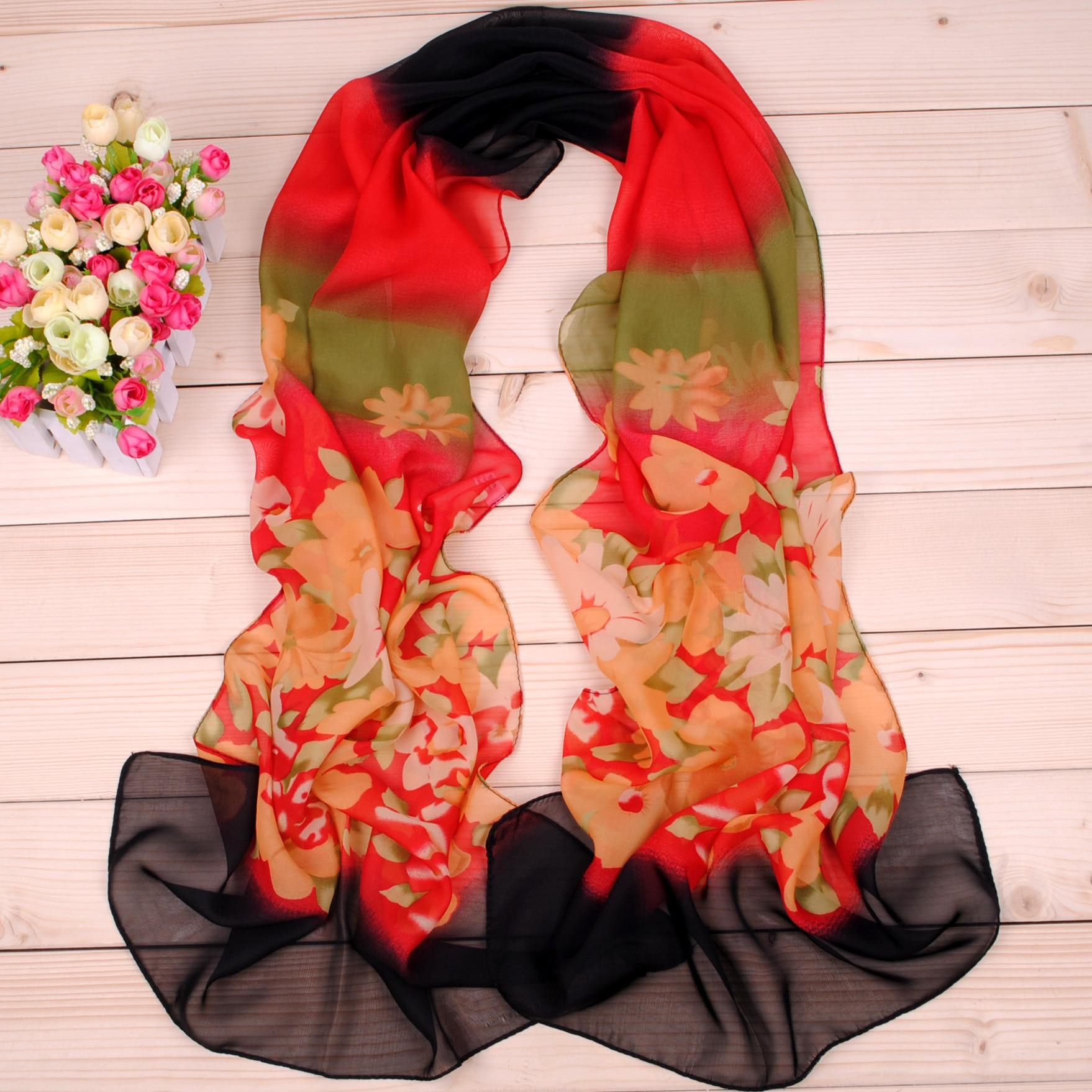 Natural Silk Scarf Women Luxury Brand 2019 Fashion Female Designer Big Florals Digital Printed Silk Foulard Ladies Silk Shawls