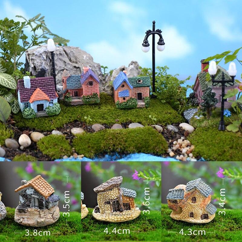 Винтажное украшение для сада, популярный искусственный дом, горячая Распродажа, украшение для дома, мини, 1 шт., миниатюрное ремесло|Статуэтки и миниатюры| | - AliExpress