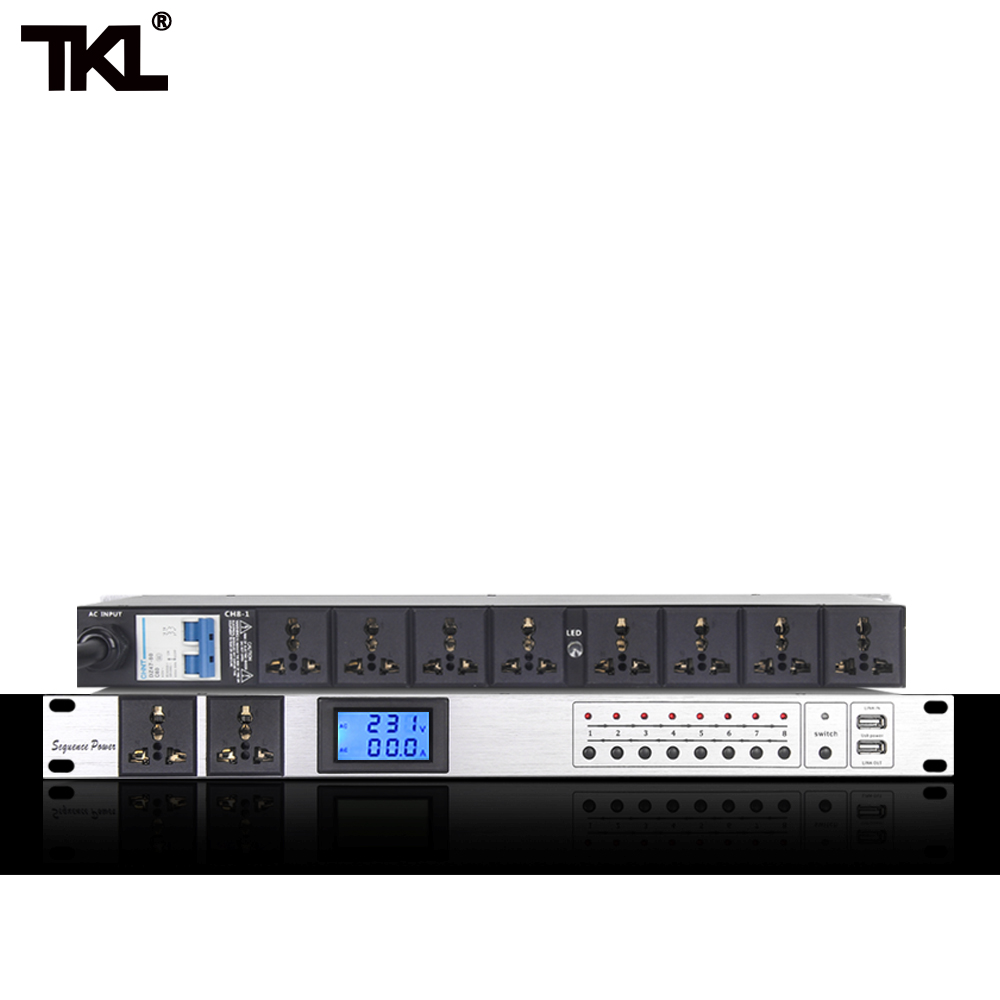 TKL D10 Professional Audio 10 Channels Air switch Power Sequence Controller Automatic power strip bar Effectively