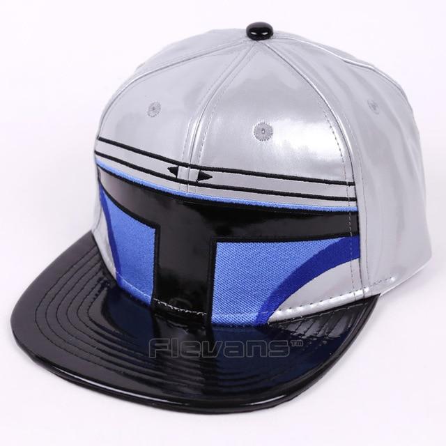 Moda pu cuero Star Wars adultos SnapBack Cap clone Troopers Boba ...