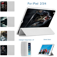 CASEBOOK Printed Assassins Creed Flip Leather Case For Ipad 3 4 2 Cover Ultra Thin Stand