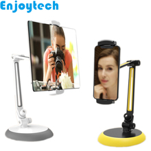 Aluminum Desktop Mounts Holder Stands for iPhone Samsung Xiaomi Mobile Phones iPad Tablets Foldable Tripods Video Bloggers