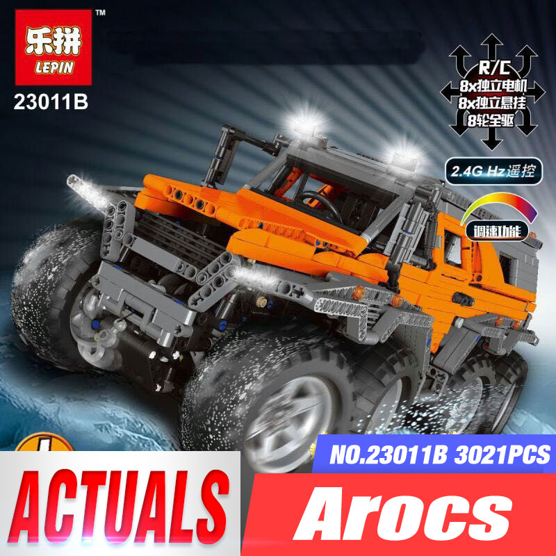 2017 New LEPIN 23011 2959 pcs Technic Series Off-road vehicle Model Building Kits Block Educational Bricks Compatible Toys Gift lepin 22001 pirate ship imperial warships model building kits block briks gift 1717pcs compatible child educational toys 10210