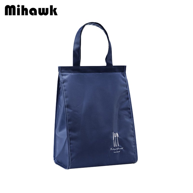Mihawk Portable Waterproof Lunch Bag Women's Men's Thermal Pouch Picnic Functional Food Container Organizer Accessories Products mihawk women s fashion animal portable handbags shoulder pouch messenger pouch storage belongings organizer accessories products