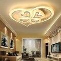 Современные светодиодные потолочные лампы для гостиной  спальни  свадьбы  белого цвета  акриловый абажур 85-265 в  потолочные светильники