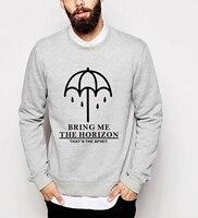 Fall Winter Men Fashion Harajuku Sweatshirt BRING ME THE HORIZON Music Band Hoodies 2016 Hip Hop