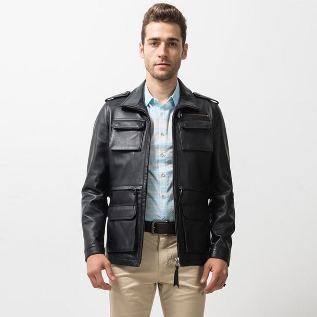 black leather m65 field jacket