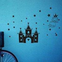 Muro Envío gratis pegatinas de Vinilo decoración Casera del PVC de empastado Extraíble Arte Mural, castillo de La Princesa, G-03