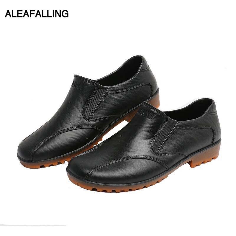 Angemessen Aleafalling Männer Regen Stiefel Wasserdichte Schuhe Unisex Outdoor Garten Küche Männer Anti-überspringen Schuhe Jungen Auto Waschen Schuhe Aw02