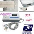 CE, FDA CONTEC ECG100G SINGLE Channel 12-Lead ECG Machine Portable