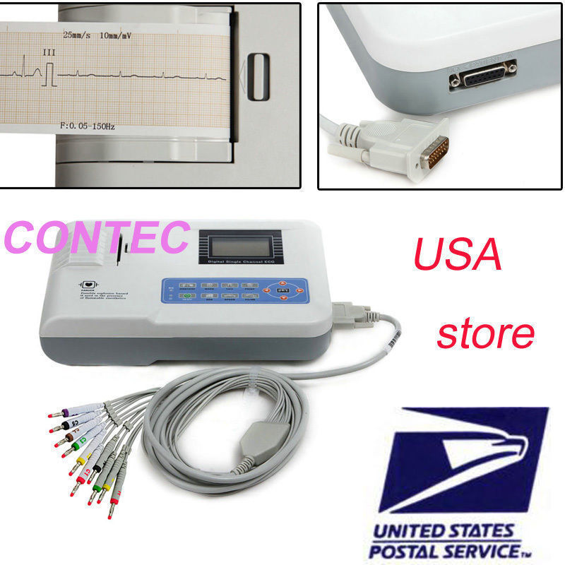 все цены на CE ,FDA CONTEC ECG100G Single Channel 12-Lead Portable ECG Machine онлайн