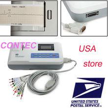 CE ,FDA CONTEC ECG100G Single Channel 12-Lead Portable ECG Machine