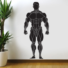 Gym Sticker Fitness Decal Body-building Posters Vinyl Wall Decals Pegatina Quadro Parede Decor Mural Gym Sticker JSL049