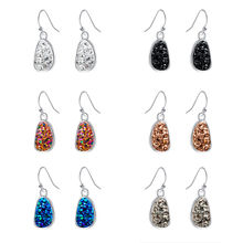 2019 New Classic Oval Austrian Crystal Earrings Cluster Drop Fashion Women  Colorful Stone Jewelry