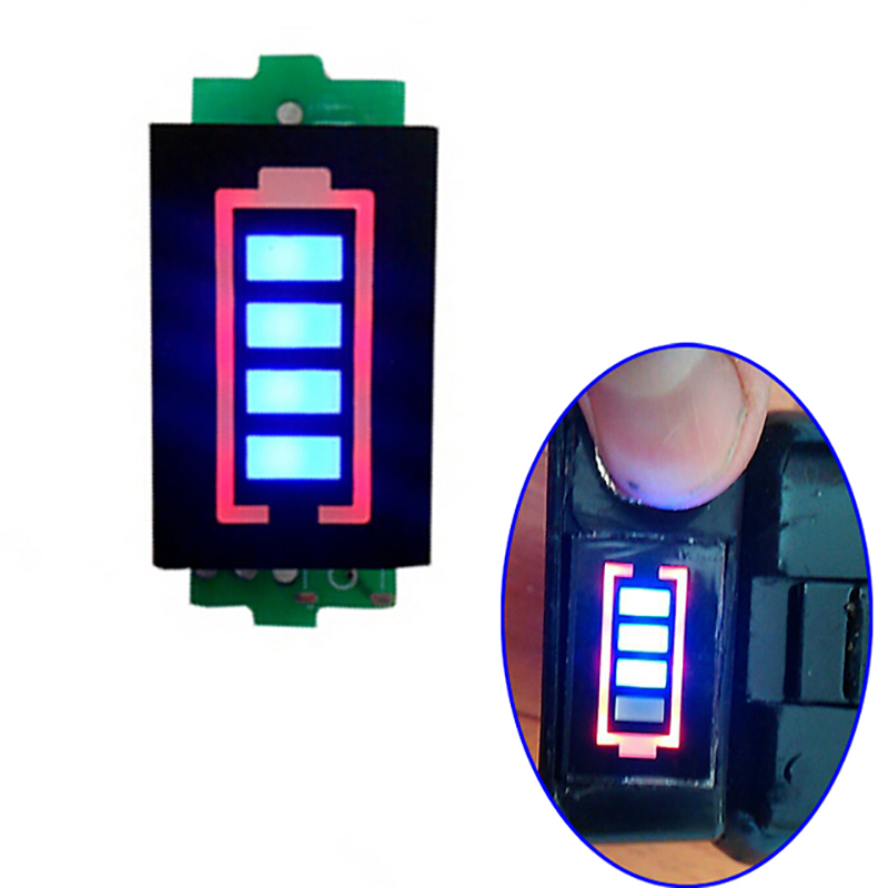 3S 3 Series Lithium Battery Capacity Indicator Module Blue Display Electric Vehicle Battery Tester Li-po Li-ion Accu Indicator стоимость