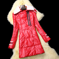 Winter New Fashion Women S Sheepskin Leather Clothing Slim Design Leather Long Down Female Wool Coat