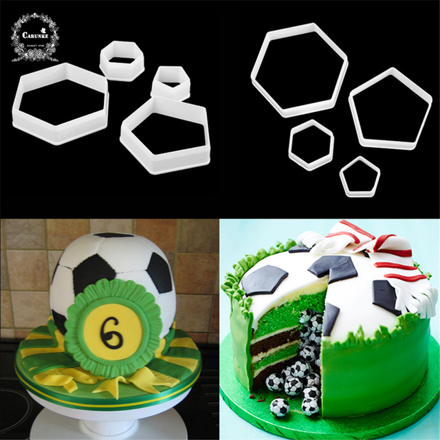 Football Fondant Cutter Plastic Cutter Fondant Molds Cake Decorating