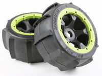 Rear Sand Buster Tyres Paddle Wheels Tires Fit 1/5 RC Car ROAVN KM HPI Baja 5B 1/5 Scale Rc Baja Part NEW