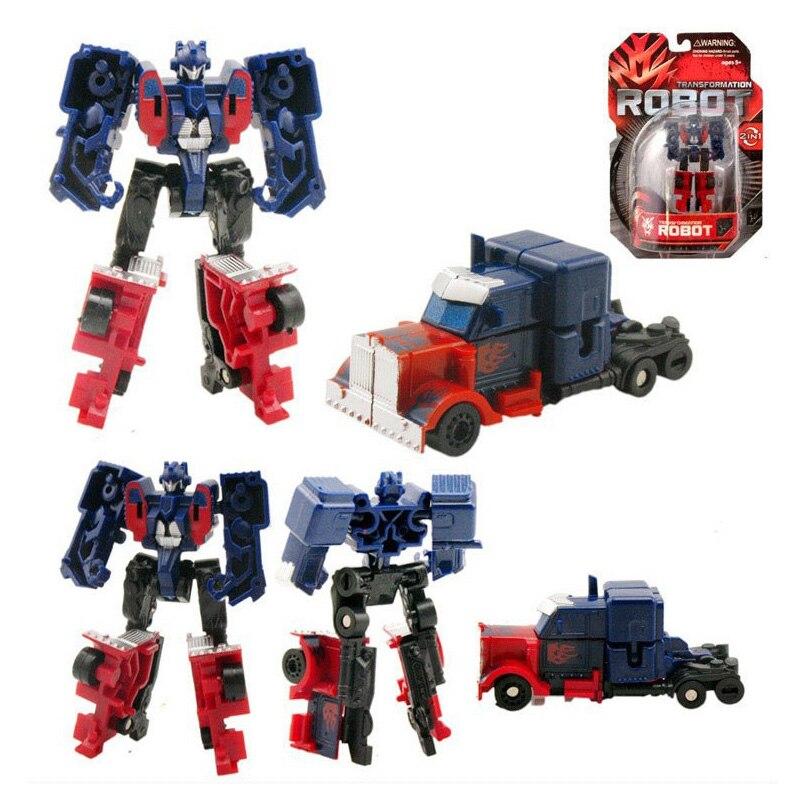 Caja al por menor 7 unids / set Transformation Kids Classic Robot - Figuritas de juguete - foto 3