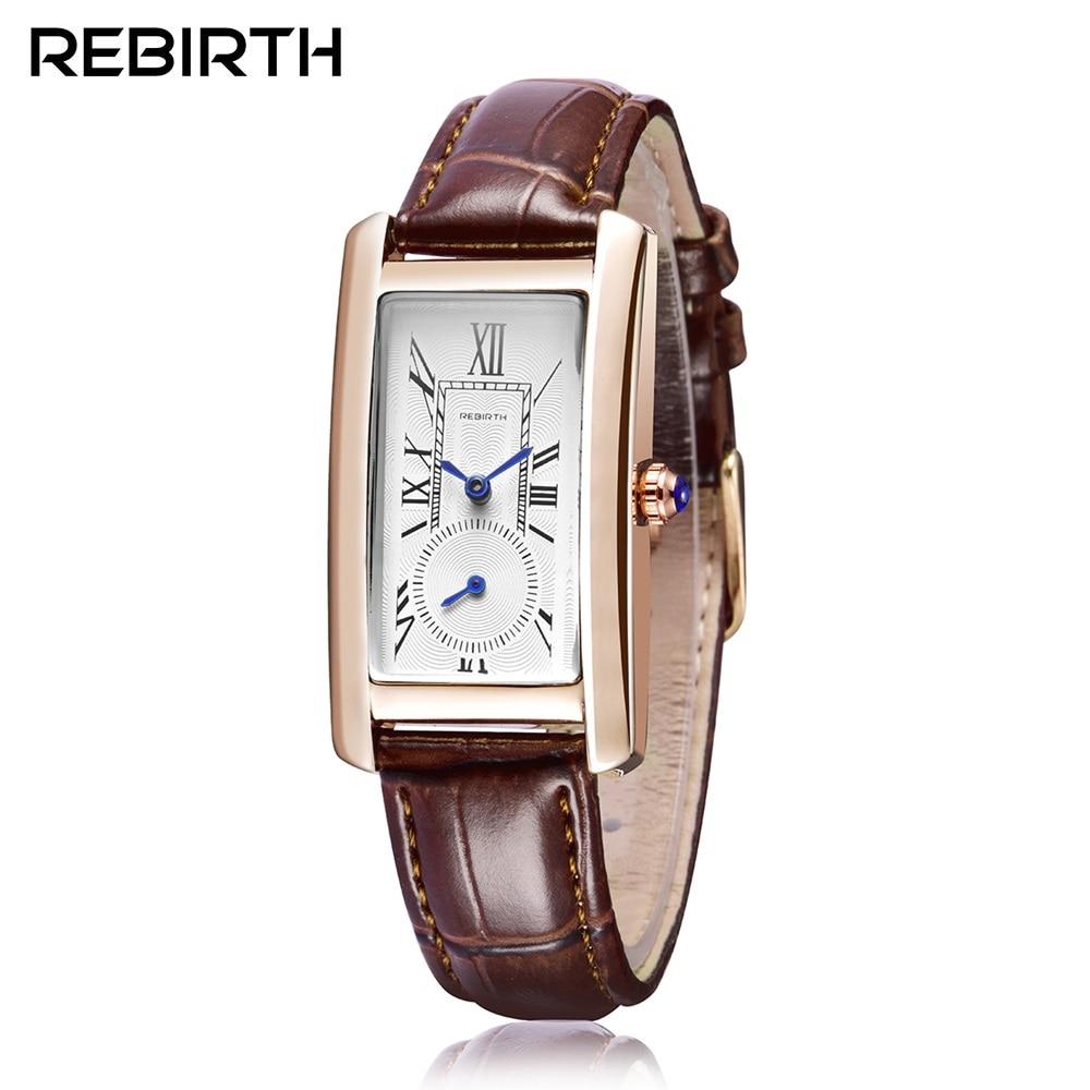 New Arrivals Lady Watches Women Luxury Bracelet Rose Gold Watch Fashion Antique Square Leather Female Quartz Clock Montre Femme