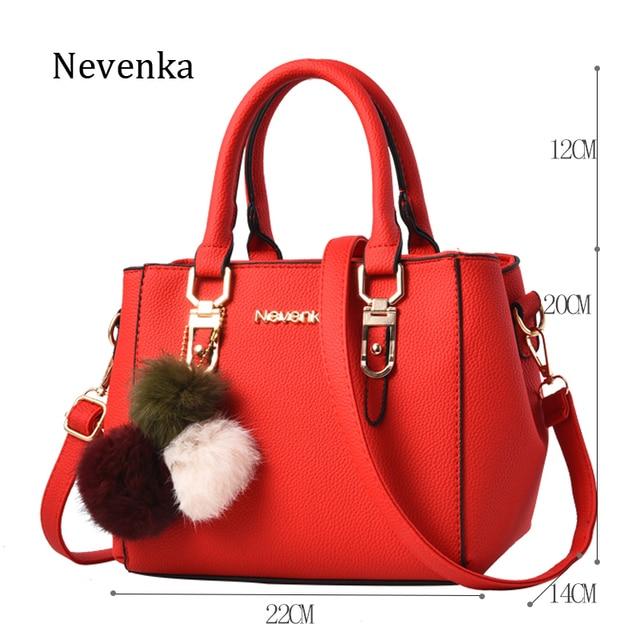Nevenka Women Bag Pu Leather Tote Brand Name Bag Ladies Handbag Lady  Evening Bags Solid Female Messenger Bags Travel Fashion Sac e541e807cb90a