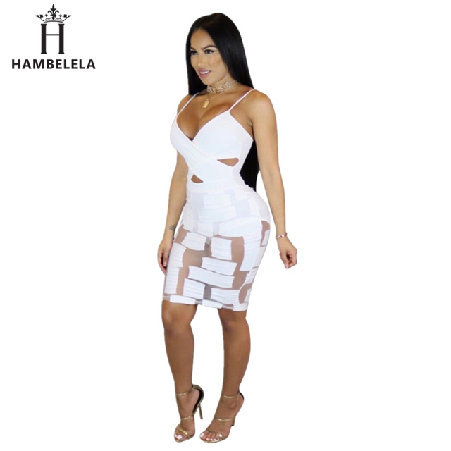 92386aedff15 HAMBELELA New Fashion Black White Elegant Women s Cub Dress Sexy Fashion  Sleeveless Summer Women Sexy Party Package Hip Dress