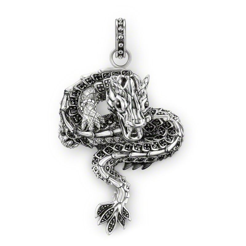 Online buy wholesale sterling silver pendant dragon from china ts 925 sterling silver black zirconia mythical dragon pendants fit necklace thomas style heart of aloadofball Gallery