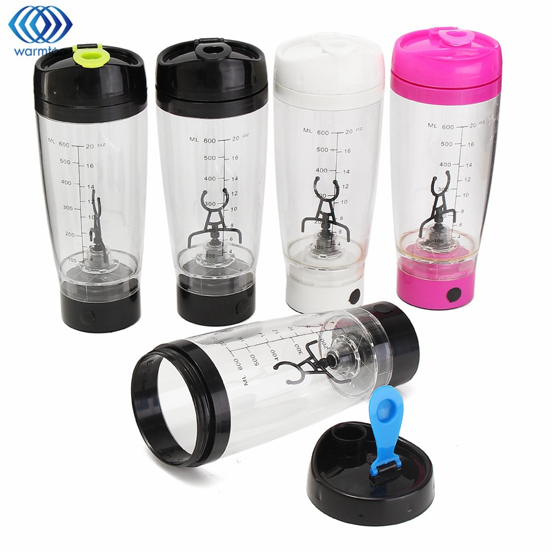 600ml Electric Protein Shaker Blender Auto Mixing Travel Stirring Mug Electric Milk Coffe Mixer Cup Transparent Lazy Stir portable blender mini mixer automatic self stirring mug