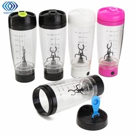 600ml Electric Protein Shaker Blender Auto Mixing Travel Stirring Mug Electric Milk Coffe Mixer Cup Transparent