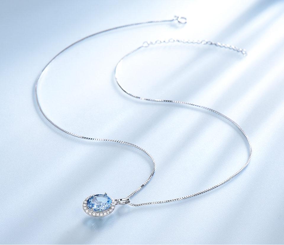 UMCHO Sky blue topaz 925 sterling silver jewelry set for women S010B-1 PC (11)